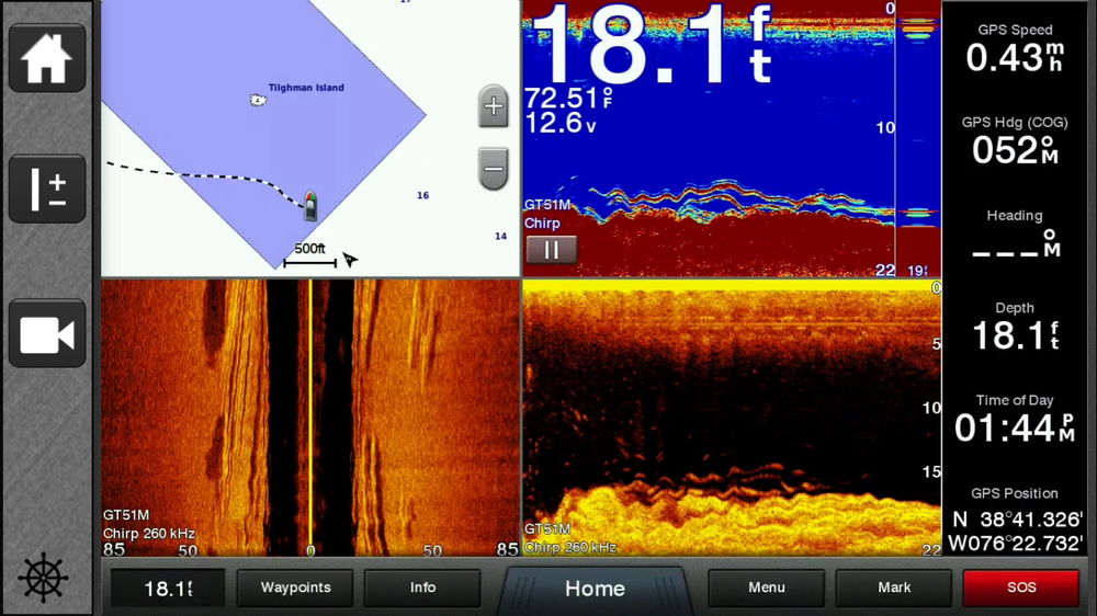 Coastal Conservation Association Maryland posted this sonar shot of the reef ball deployment from July 2016. Just one year later you can see the they are productive habitat holding fish.