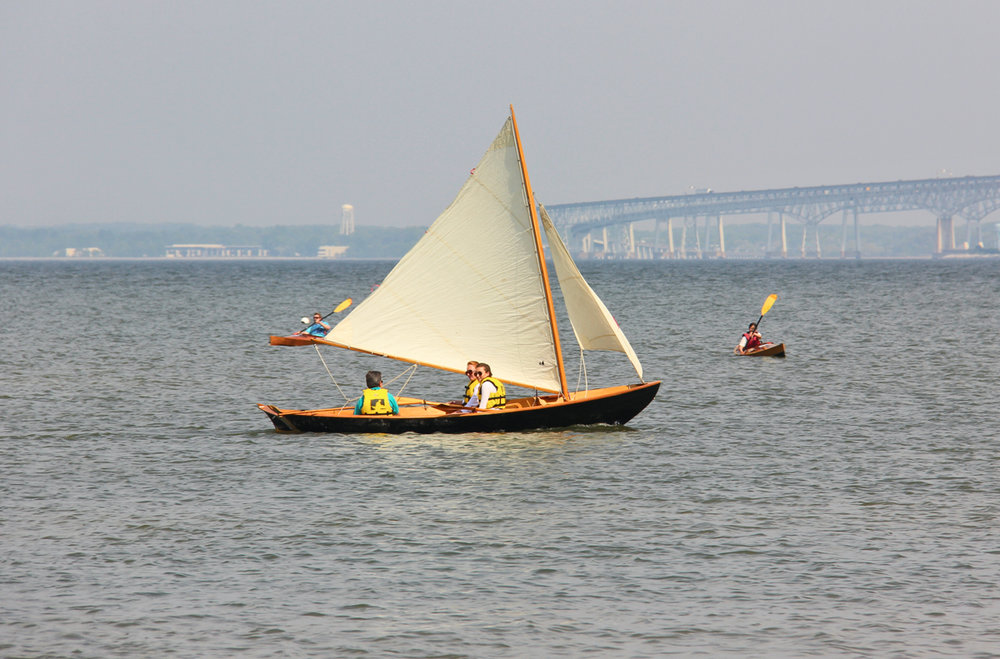 An example of a Northeaster Dory under sail