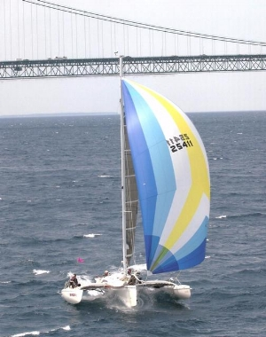 High Priority 2  under sail
