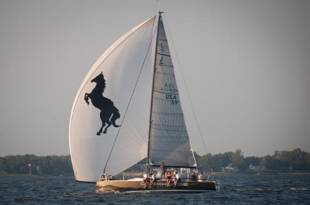 Darkhorse , of Annapolis, under sail