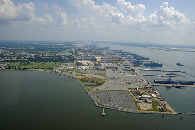 Naval Station Norfolk is just one of the Navy installations targeted this week.