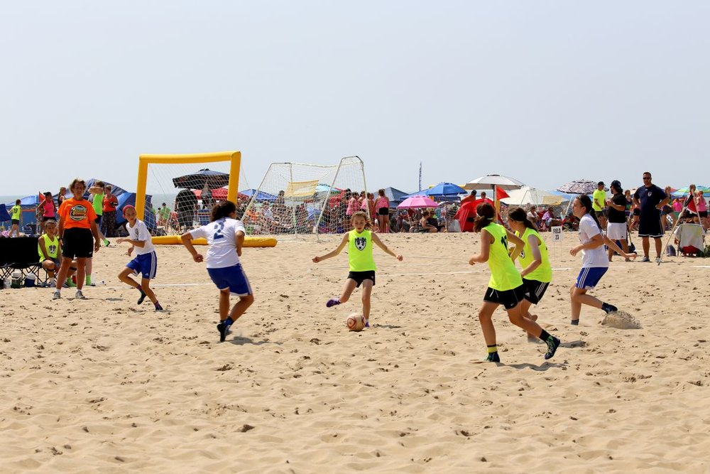 One of Ocean City's popular sand soccer tournaments