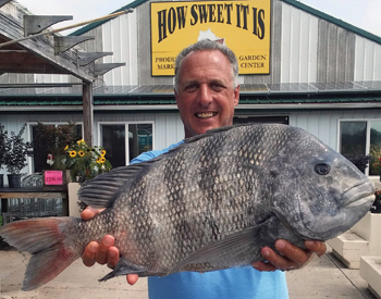 Dave Alveberg and his sheepshead