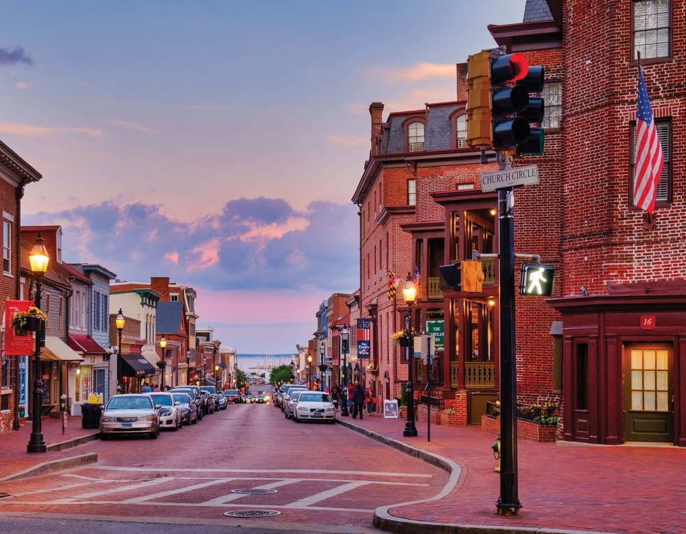 Sunset in Annapolis. Photo by Bob Peterson.
