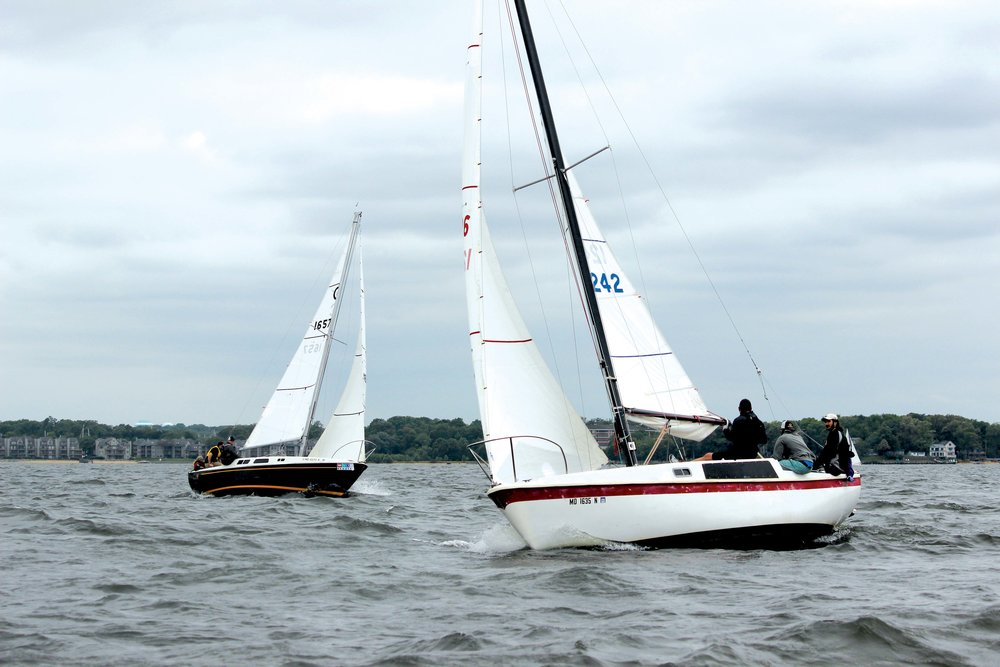 Chicken Little  and  One Eyed Jack  racing off Annapolis