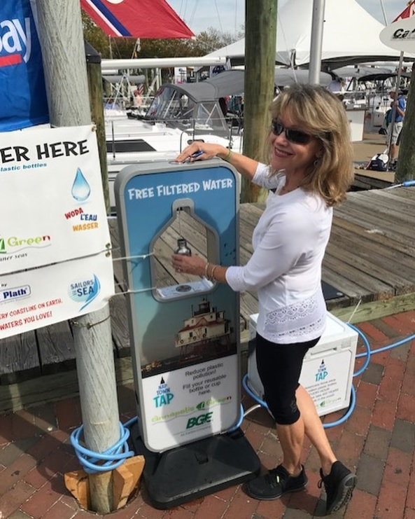 Annapolis Green's Lynne Forsman demonstrates the NAPTOWN TAP