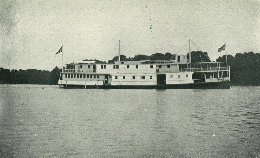 The launch  Investigator , manned and equipped for examining oyster grounds; and the Houseboat  Oyster , headquarters of state and federal survey field parties.-  NOAA Central Library
