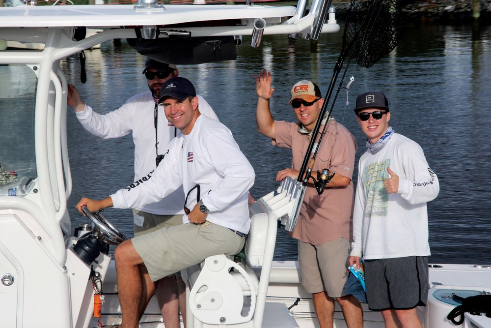 Captain Doug Root and his anglers take to the water. Photo by Martin image photography.