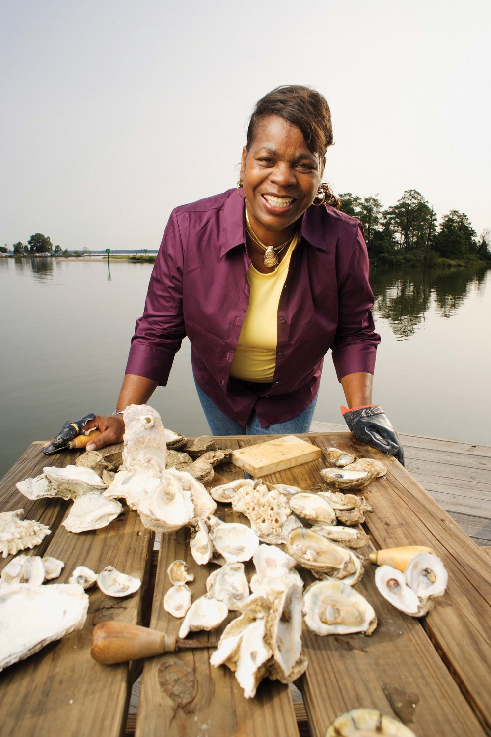 Deborah Pratt, champion oyster shucker. - photo by Virginia Tourism Corporation