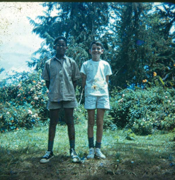 Young Tutman in 1969 with best pal Martin Marriott at St. Michaels School in Tanzania. Courtesy of Fred Tutman.