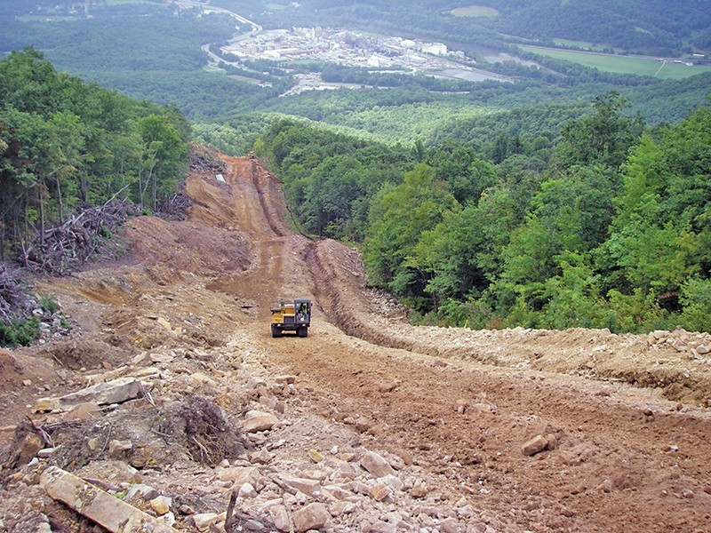 Land being cleared for a 12-inch gas pipeline. The Atlantic Coast Pipeline would be 3.5 times larger. Photo: Dominion Pipeline Monitoring Coalition