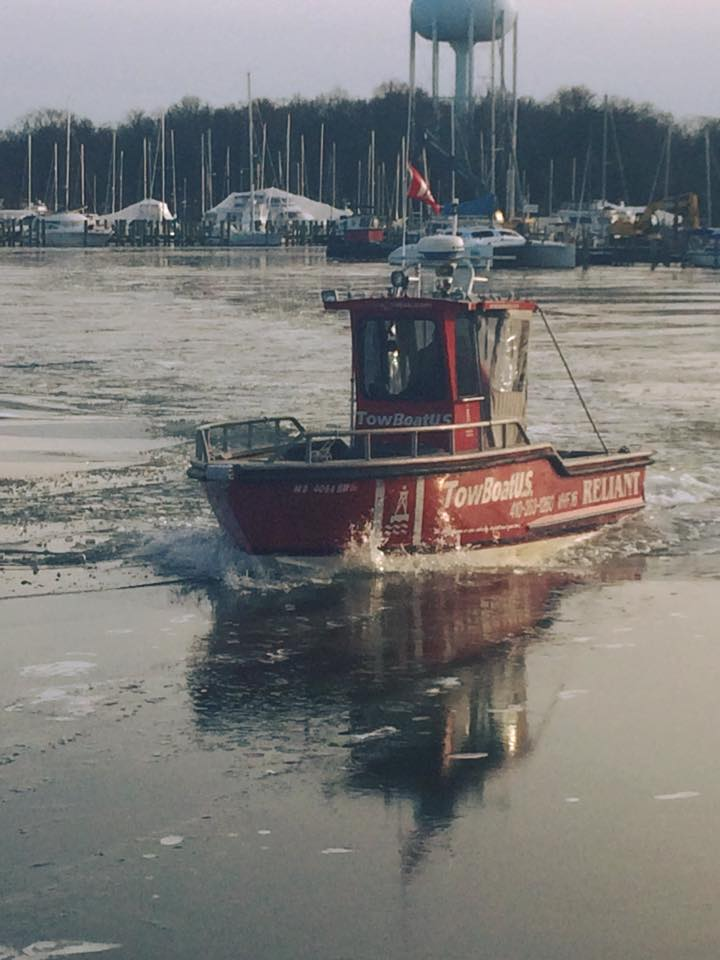 Breaking ice on Back Creek in Annapolis. Photo: Joe Evans