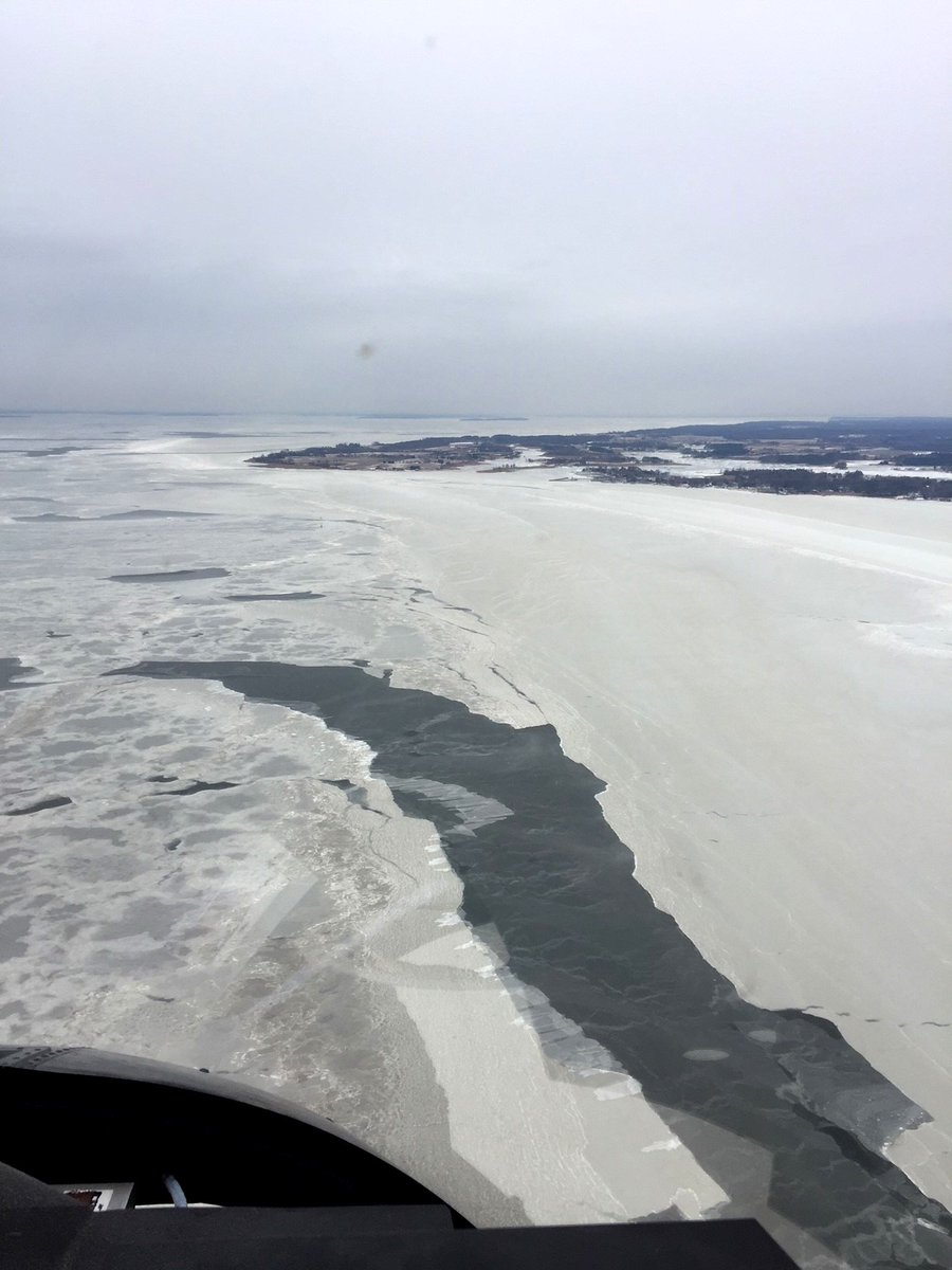 The mouth of the Choptank River, photo from a Md. Natural Resources Police helicopter