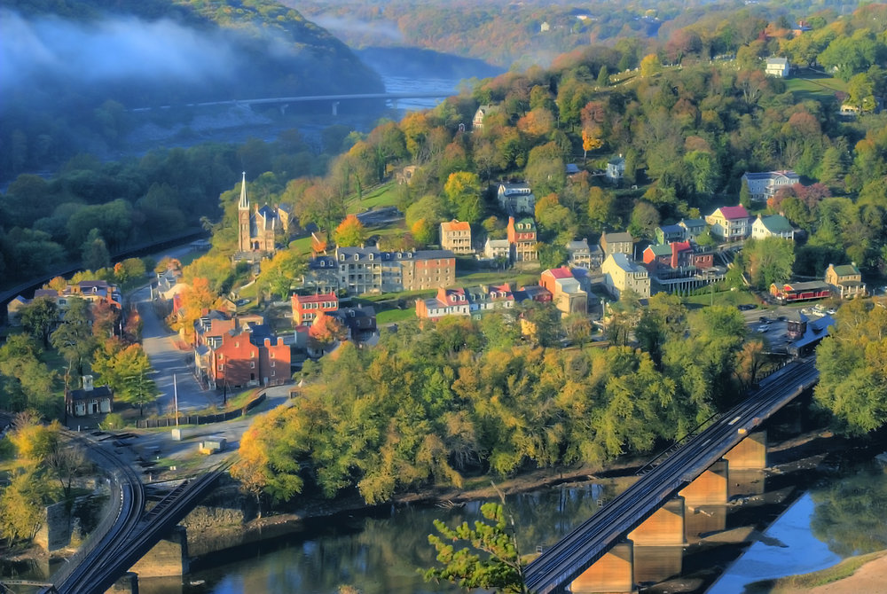 Harpers Ferry seen from Maryland Heights. Photo: historicharpersferry.com/ Don Burgess