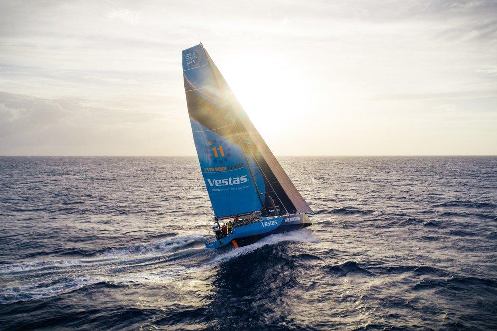 Team Vestas earlier in the race. Photo: Volvo Ocean Race