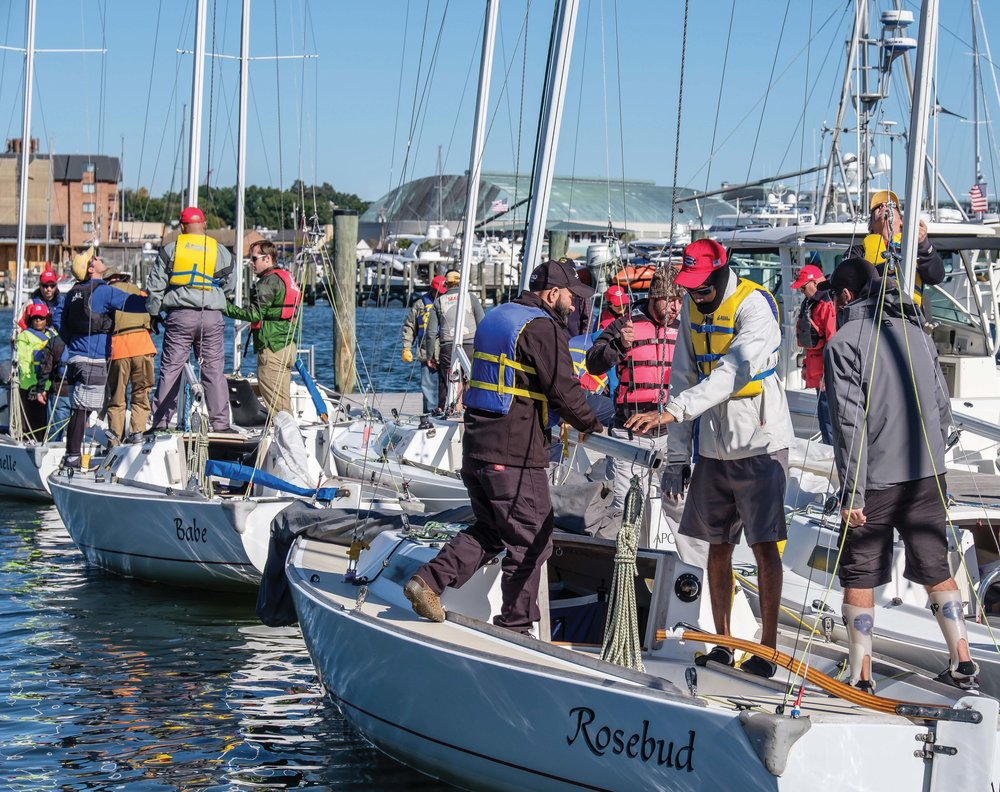 Participants in the Warrior sailing Program learn the basics of seamanship, gaining confidence along the way. photos by George Sass