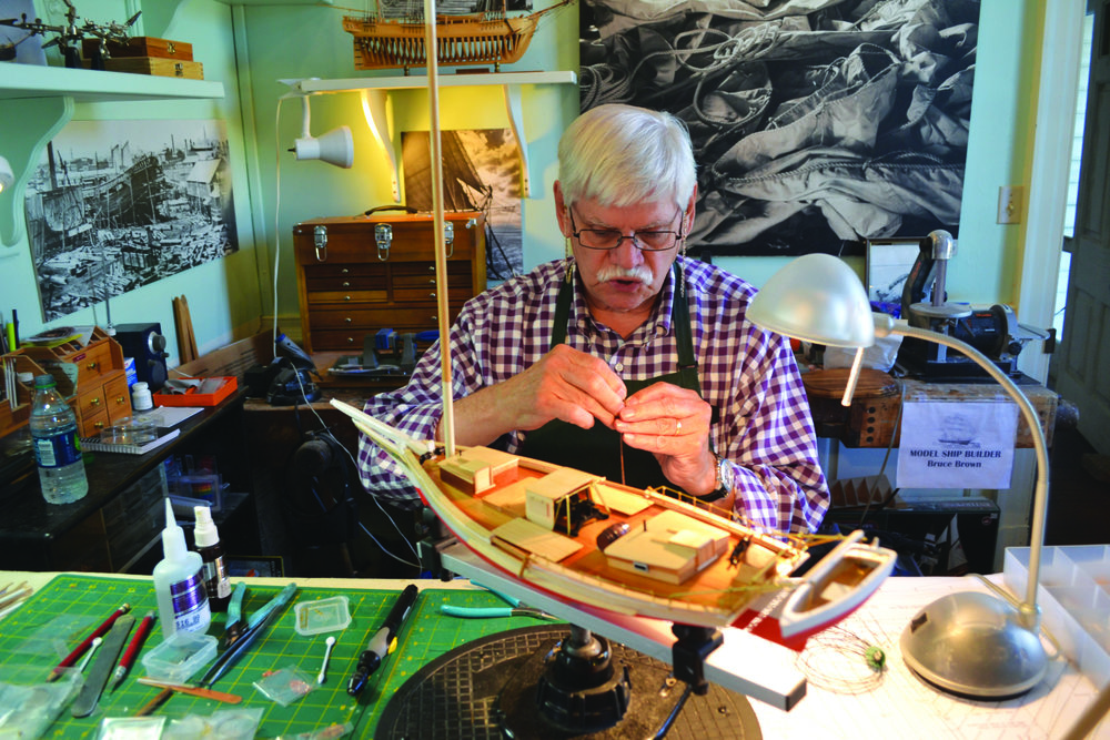 Model making is just one of the traditional crafts taught at the Yorktown Watermen's Museum. photo by Karen Soule