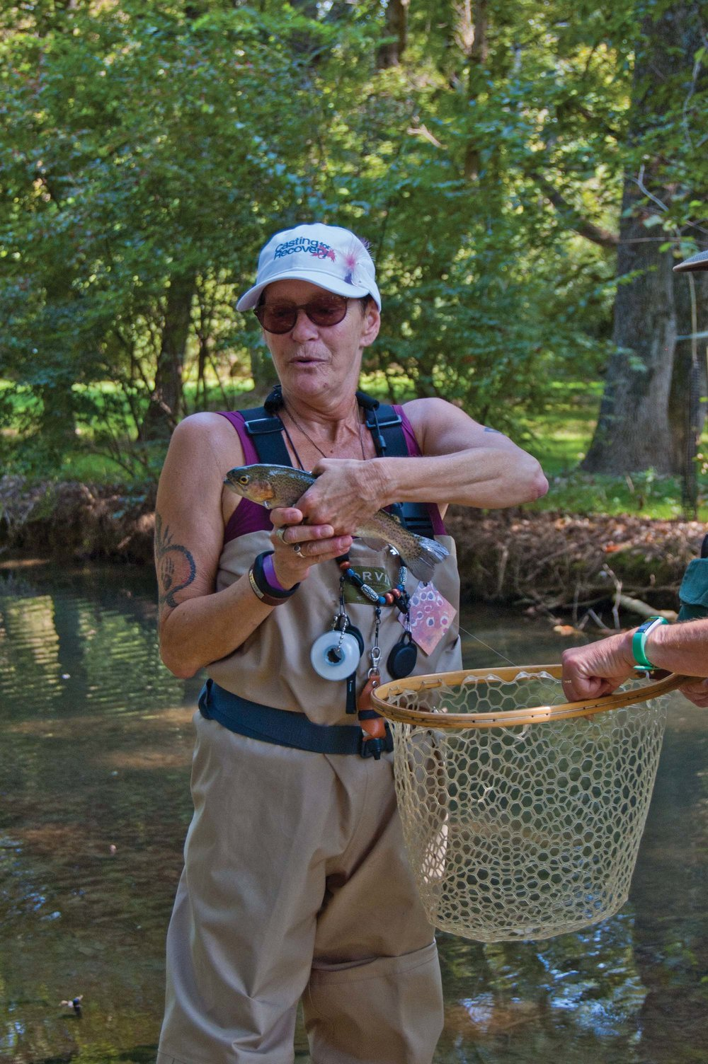 """The best part for me is the sense of acomplishment,"" Wednesday says. ""I caught a fish!"" .  Photo by Marty LeGrand"
