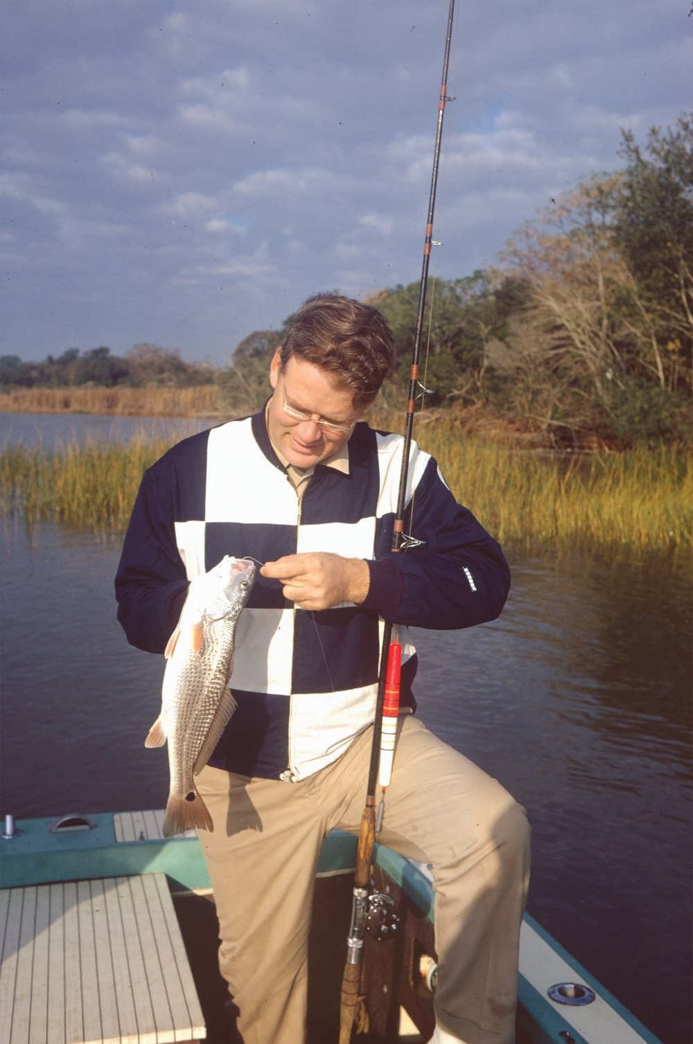 Reiger on the job in the Savannah River circa 1970.
