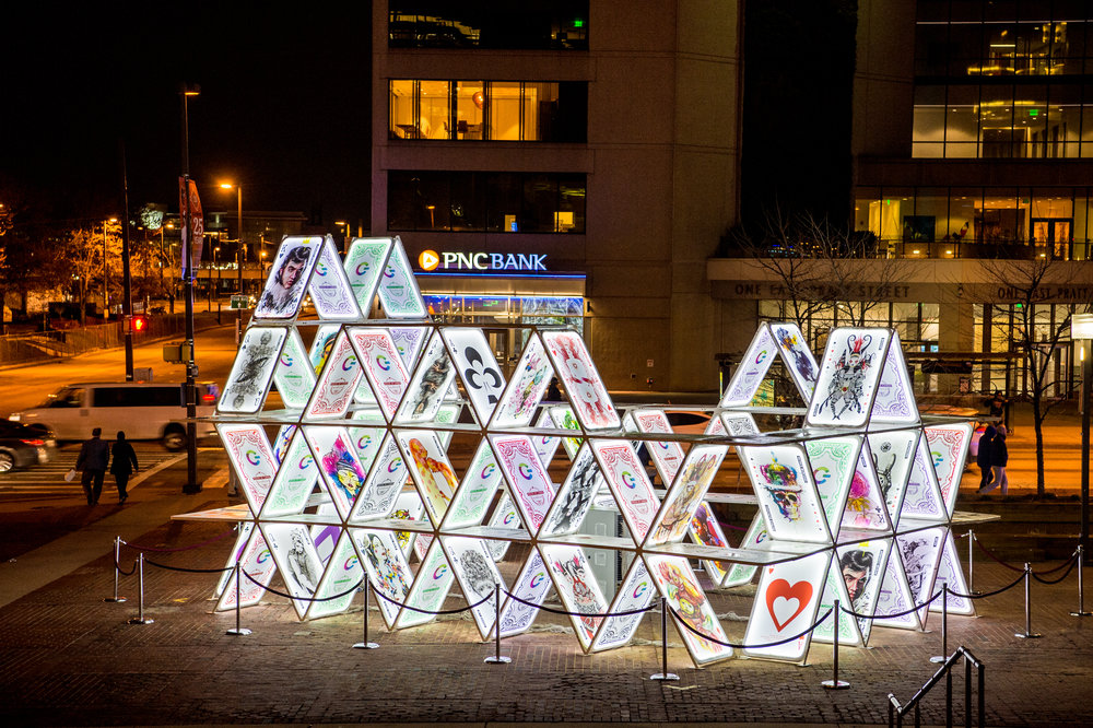 A popular display from Light City Baltimore 2017