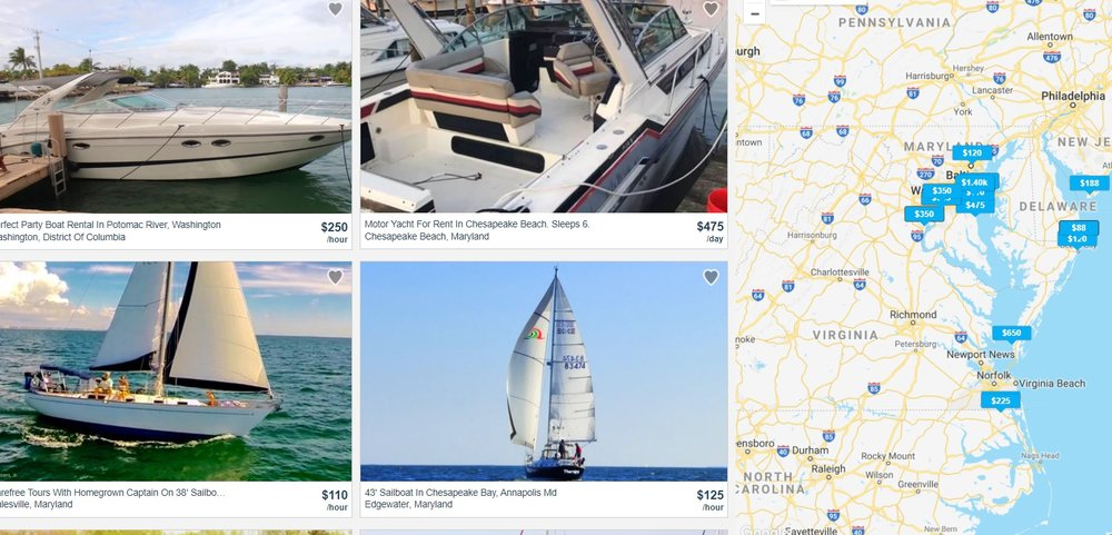 Just a few of the 80+ boats available to rent or charter on GetMyBoat in the Bay region