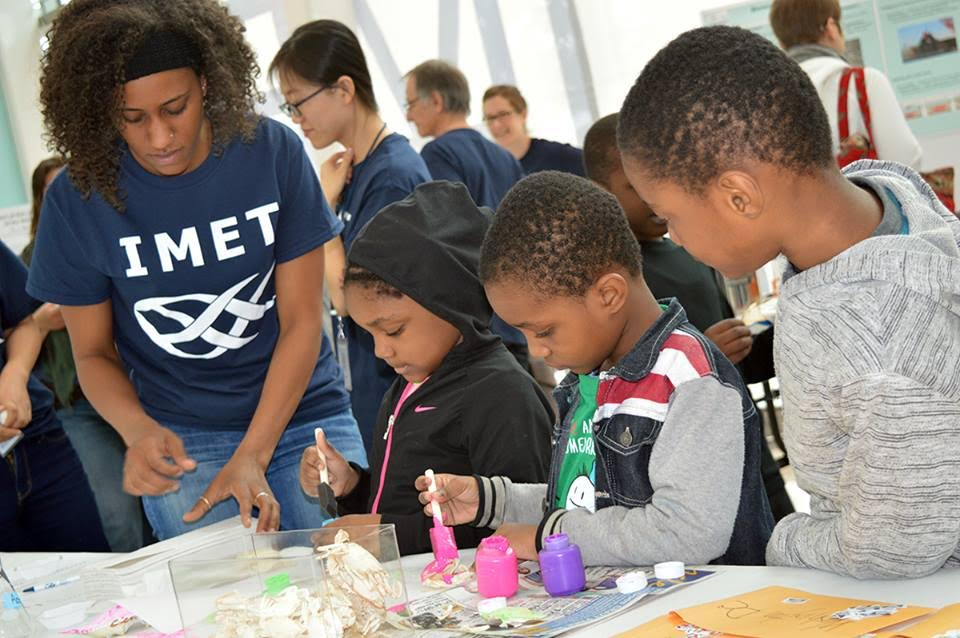Scientists-in-training at IMET's Open House.