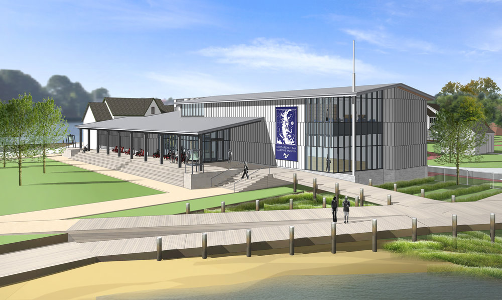 A rendering of the planned new facility on CBMM's campus.
