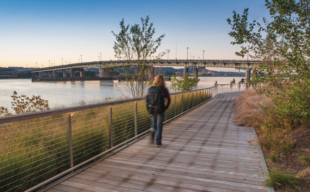 Walkway along the Anacostia River, Washington D.C. P hoto by Krista Schlyer