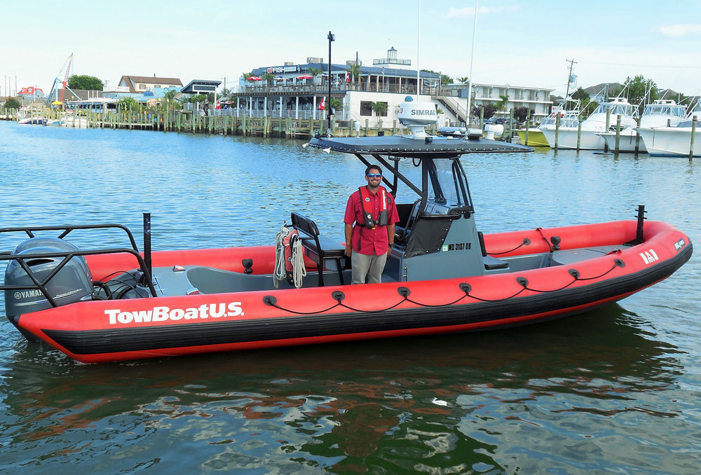 Captain Rob Copenhaver, Operations Manager for TowBoatUS Ocean City, and now Chincoteague