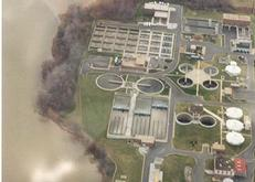 Aerial view of Cox Creek Wastewater Reclamation Facility