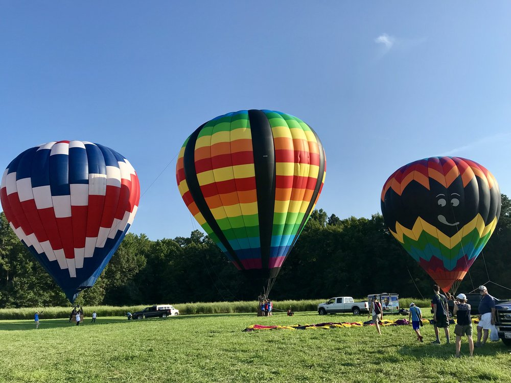 The festival offered short tethered balloon rides to excited visitors, giving them a taste of the high life as the balloon lifted around 60 feet off of the ground before coming back down.