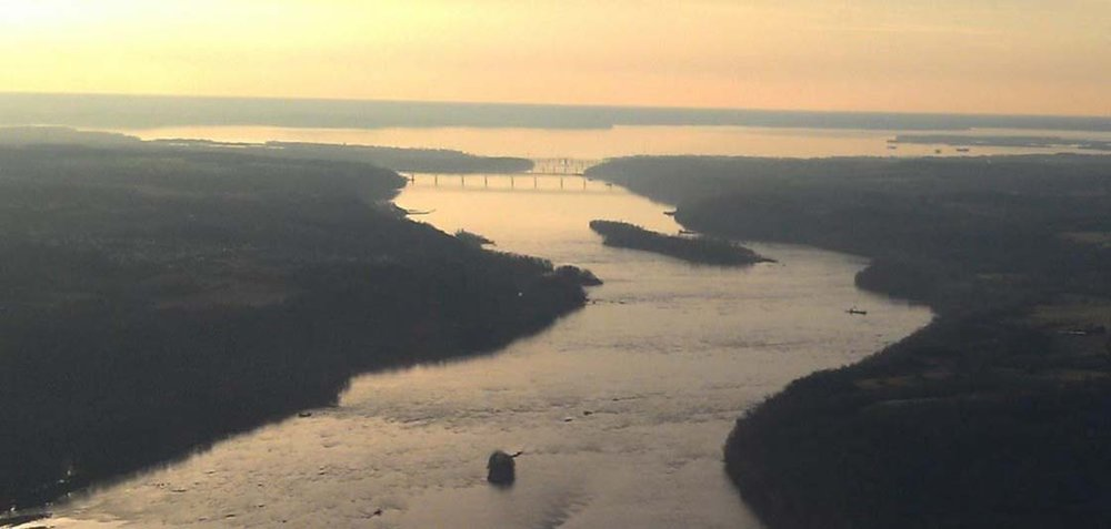 The Susquehanna River saw historic water flow due to storms. Photo: NOAA
