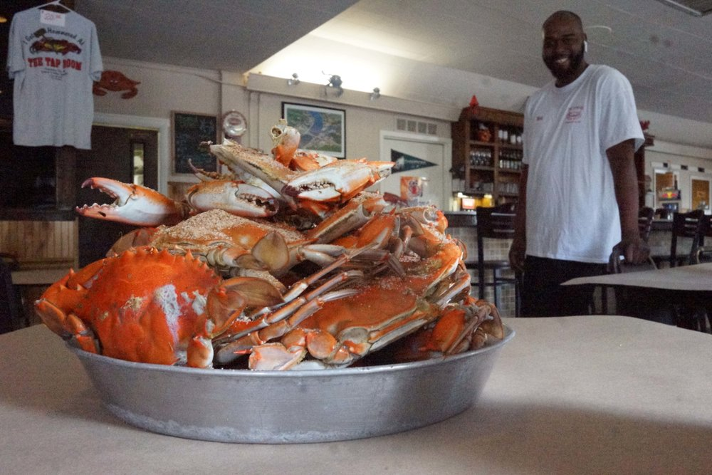 The Tap Room is the place to go for cold beer and steamed crabs. null