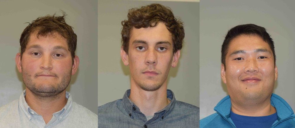 Nicholas Lewis, Rory Handlin, and Samuel Jenkins were all arrested early Sunday morning.