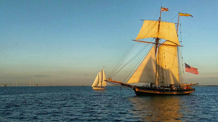 Pride II  sailing off Annapolis in September. Photo: Charlotte Faraci