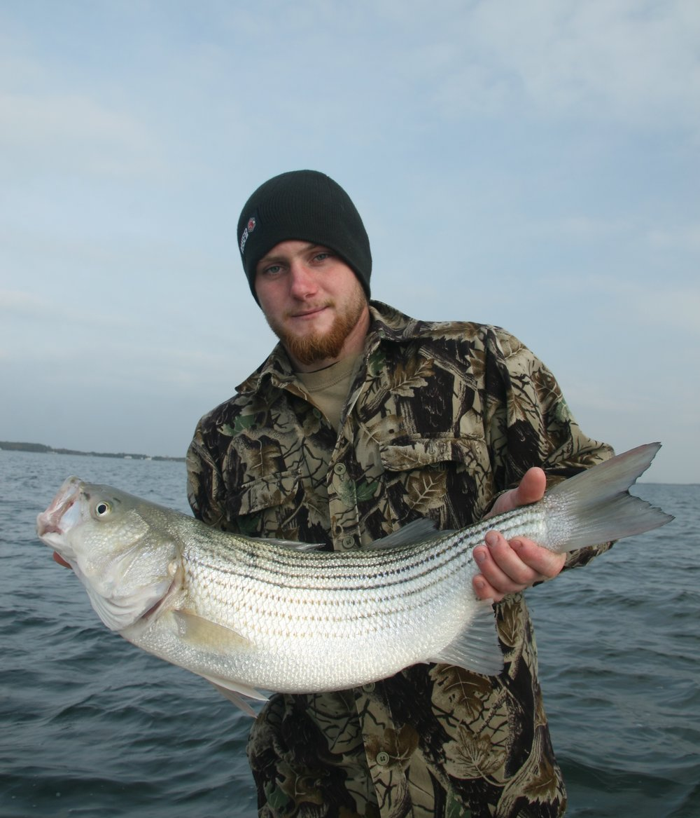 Fall can be primetime for Chesapeake rockfish. (Photo by Capt. Chris D. Dollar/CD Outdoors)