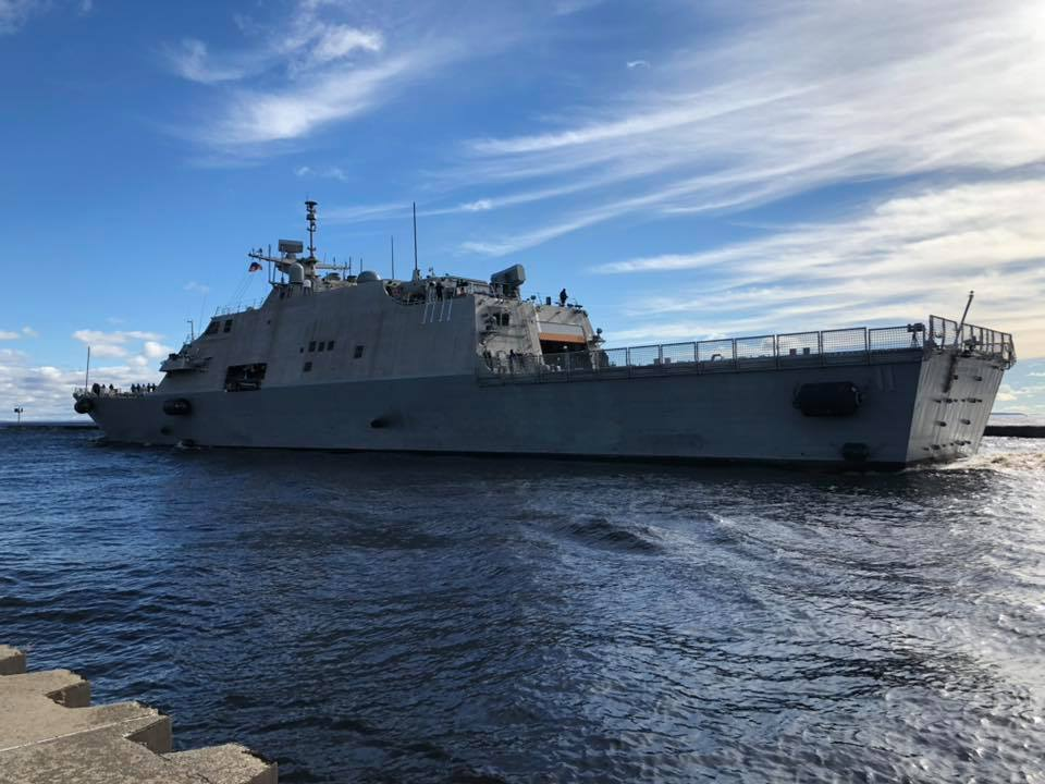 LCS 11 departs Wisconsin for Annapolis. Photo: Ryan Ostrenga/Facebook
