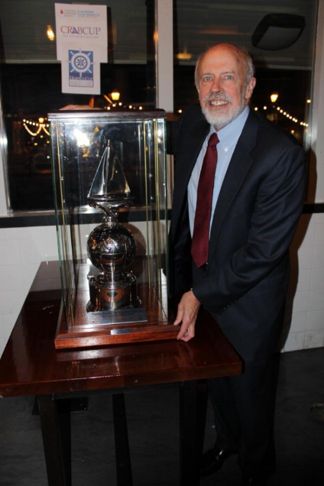John Heintz and his Triple Crown of Charity Sailing Trophy