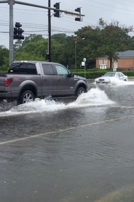 Coastal flooding in Tidewater Virginia. Photo: J.D. Loftis/ Virginia Institute of Marine Science