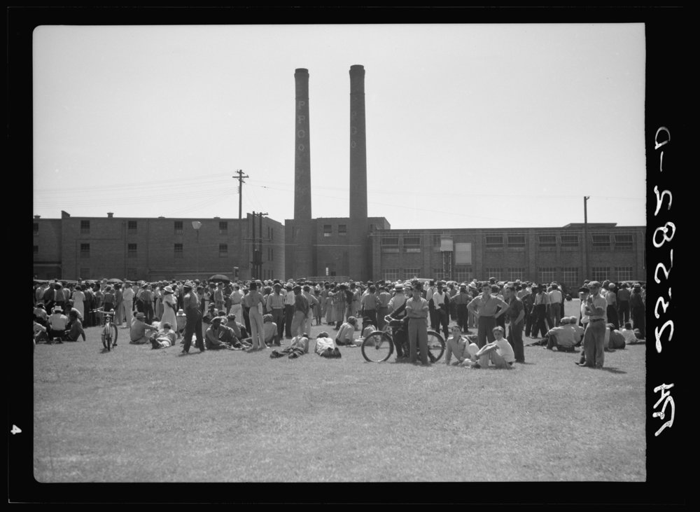 A worker strike at the Phillips Food Packing Plant in 1937.