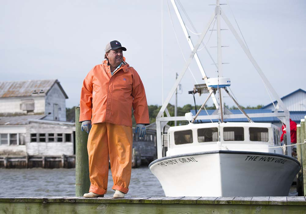Johnny Shockley sees aquaculture as the key to preserving the Bay, and watermen like himself.