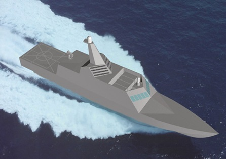 An early rendering of the Littoral Combat Ship concept, courtesy of Ben Capuco.