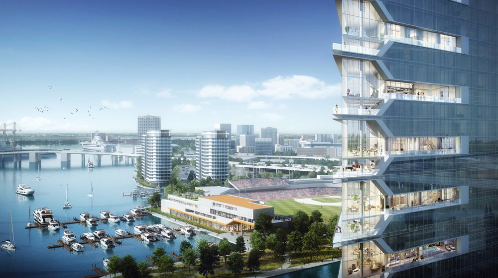 A rendering of the proposed project. Photo: Jay Smith.