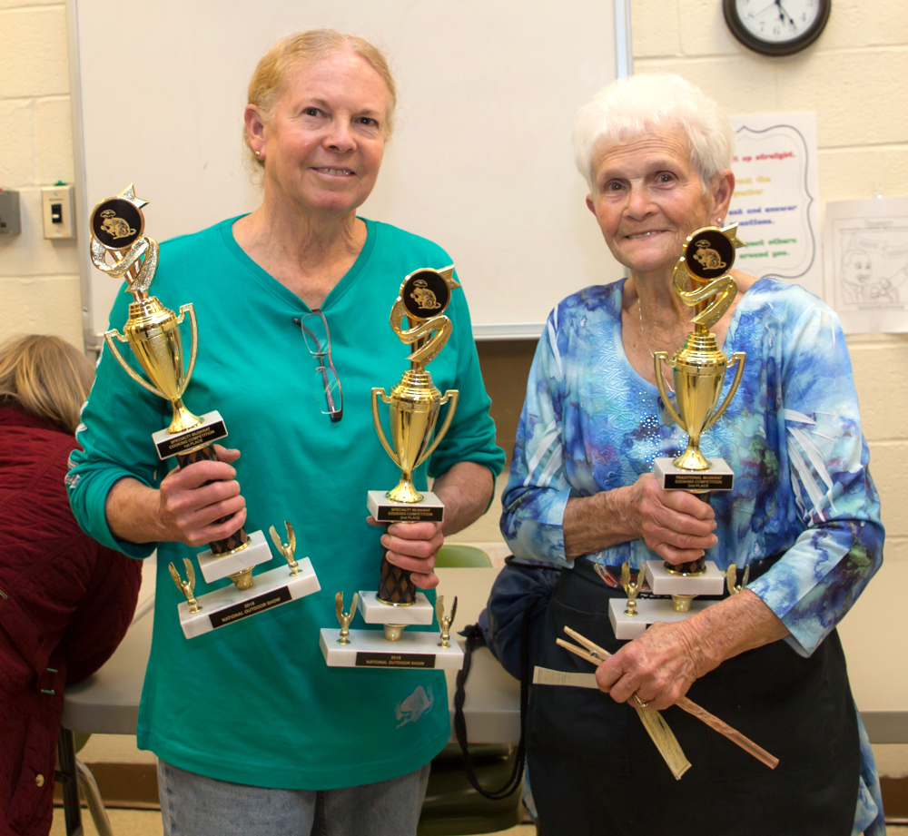 Rhonda Aaron (left) and her mother Nellie Flowers (right) took home prizes  in the specialty and traditional cook-off divisions. Photo: Jill Jasuta