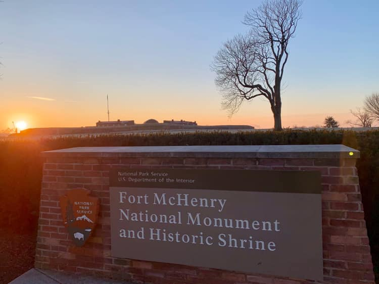 Fort McHenry posted this sunrise photo marking the park's reopening on Sunday.