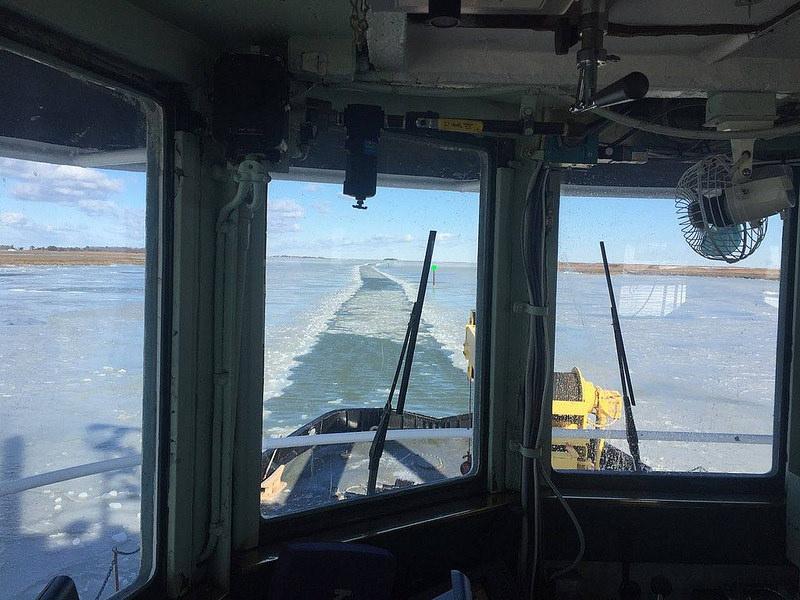 M/V J. Millard Tawes, one of DNR's four ice-breaking vessels.