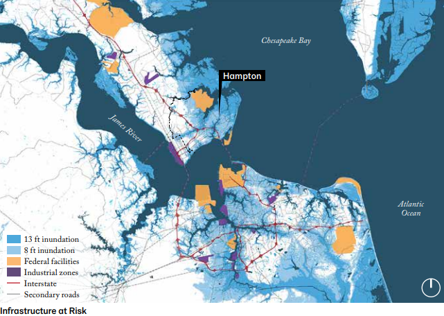 Infrastructure at risk in Hampton Roads. Photo: Resilient Hampton