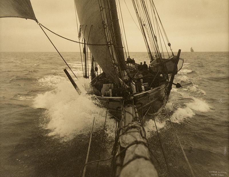 Fishing Schooner  (circa 1912) by Edwin Levick