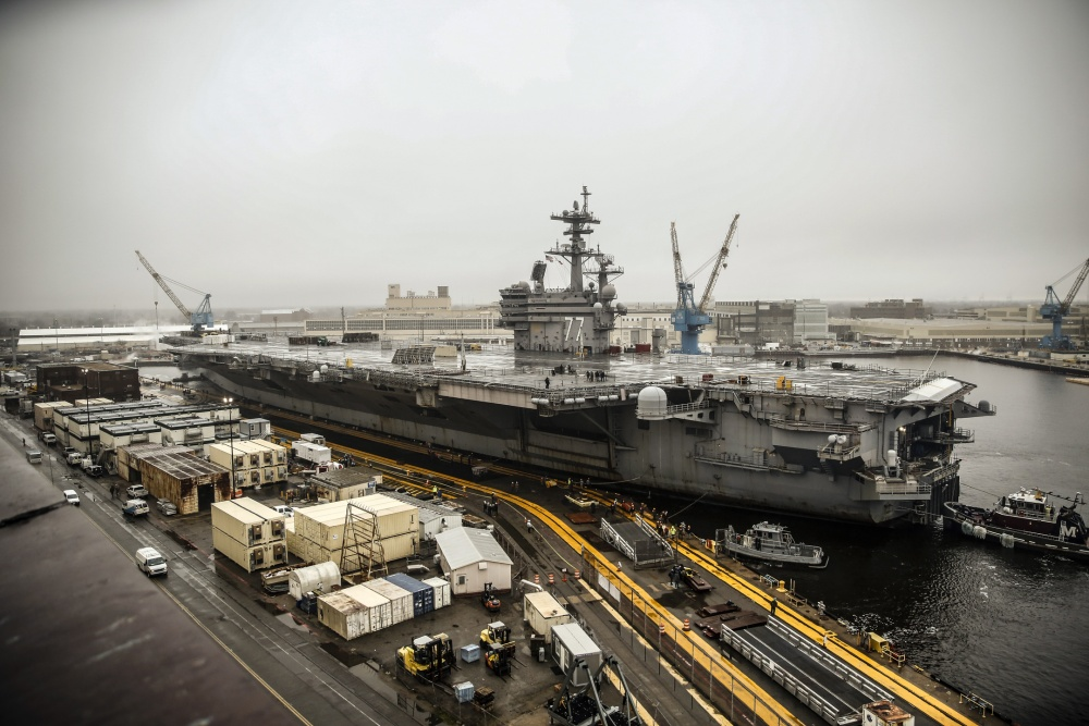 USS George H.W. Bush at Norfolk Naval Shipyard