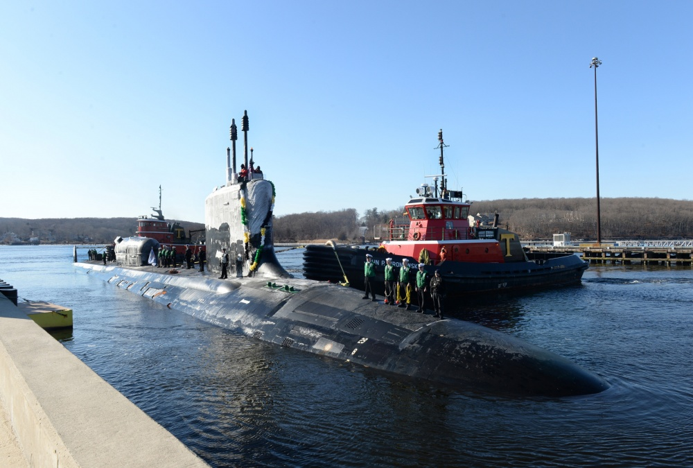 USS  North Dakota  just returned from her first deployment in February. Photo by  Petty Officer 1st Class STEVEN HOSKINS    ,  Naval Submarine Support Center, New London